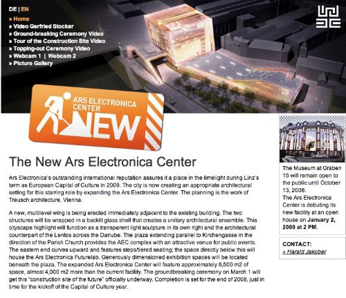 The New Ars Electronica Center